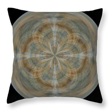 Morphed Art Globes 25 Throw Pillow by Rhonda Barrett