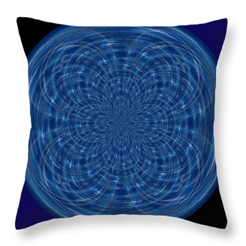 Morphed Art Globes 34 Throw Pillow by Rhonda Barrett