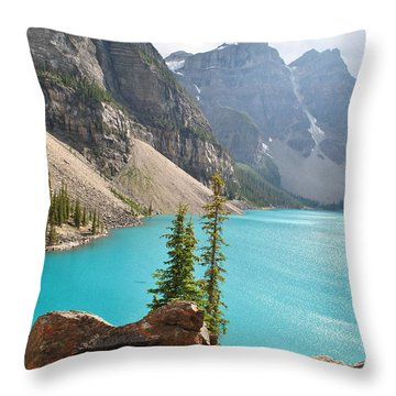 Morraine Lake Throw Pillow