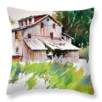 Morrison Mill Burnt Prairie Illinois Throw Pillow by Spencer Meagher