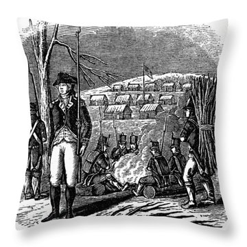Morristown: Encampment Throw Pillow by Granger