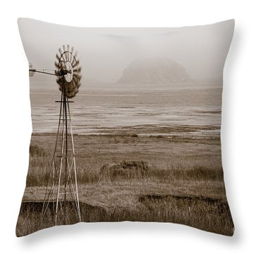 Morro Bay Windmill Throw Pillow