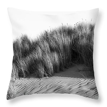 Throw Pillow featuring the photograph Morro Beach Shrubbery by Terry Garvin