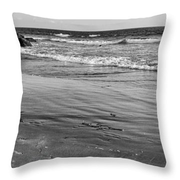 Morro Beach Walk Throw Pillow