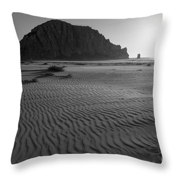 Morro Rock Silhouette Throw Pillow