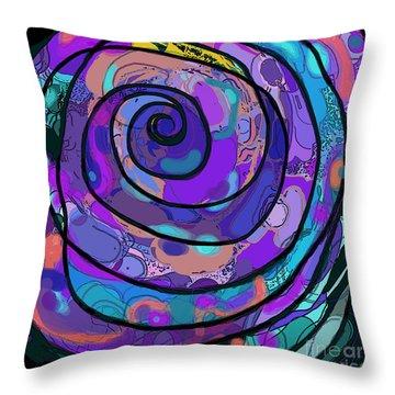 Mortal Coil Throw Pillow by Carol Jacobs