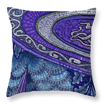 Mosaic Abstract Throw Pillow by Tony Rubino