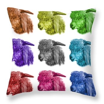 Mosaic Angora Goat - 0073 F - M - Wb Throw Pillow