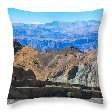 Throw Pillow featuring the photograph Mosaic Canyon Picnic by Stuart Litoff