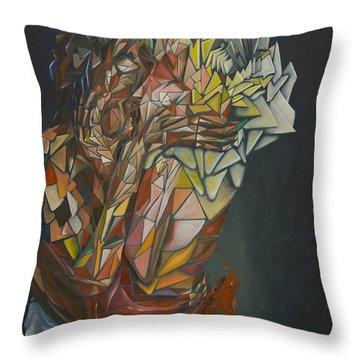 Mosaic Embrace Throw Pillow
