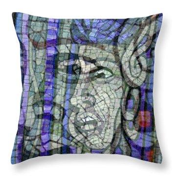 Mosaic Medusa Throw Pillow by Tony Rubino