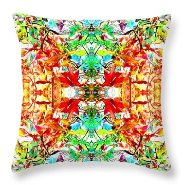 Throw Pillow featuring the photograph Mosaic Of Spring Abstract Art Photo by Marianne Dow