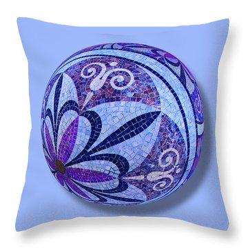 Mosaic Orb 1 Throw Pillow by Tony Rubino