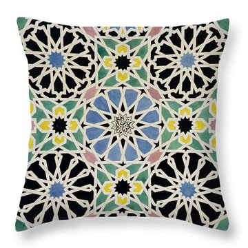 Mosaic Pavement In The Dressing Room Of The Sultana Throw Pillow by James Cavanagh Murphy