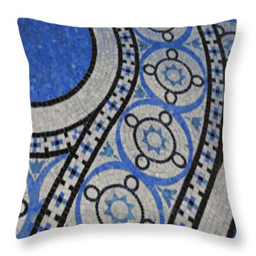 Mosaic Perspective 2 Throw Pillow by Tony Rubino
