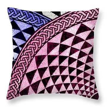 Mosaic Quarter Circle Top Left  Throw Pillow by Tony Rubino