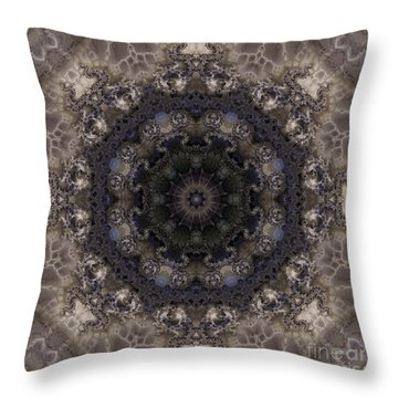 Mosaic Tile / Gray Tones Throw Pillow by Elizabeth McTaggart