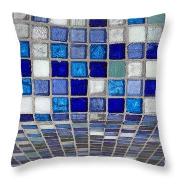 Mosaic Tile Throw Pillow by Tony Cordoza