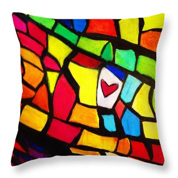 Mosaic Tiles Throw Pillow by Renee Michelle Wenker