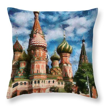 Moscow Kremlin  Throw Pillow by Georgi Dimitrov