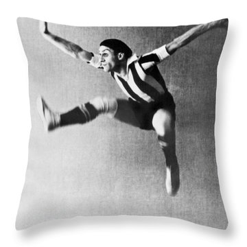Moscow Opera Ballet Dancer Throw Pillow by Underwood Archives