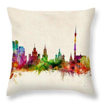 Moscow Skyline Throw Pillows