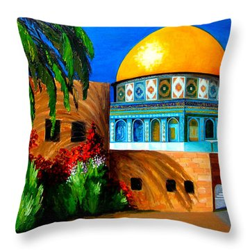 Mosque - Dome Of The Rock Throw Pillow