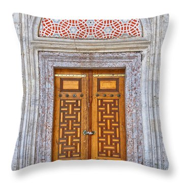 Mosque Doors 04 Throw Pillow by Antony McAulay