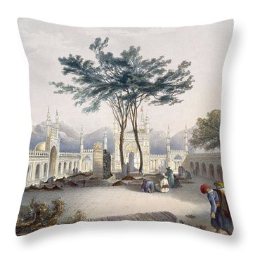 Mosque Of Goolaum Hoossein Huzrut-jee Throw Pillow by James Rattray