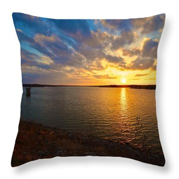 Moss Lake 6425 Throw Pillow