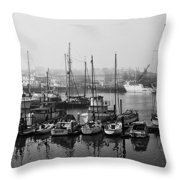 Moss Landing Harbor Throw Pillow