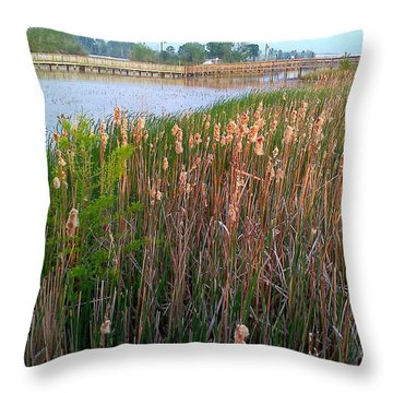 Moss Landing Washington North Carolina Throw Pillow