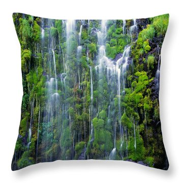 Mossbrea Falls  Throw Pillow
