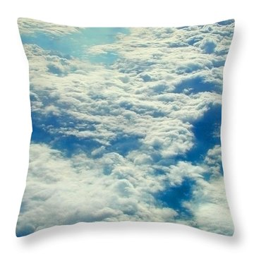 Throw Pillow featuring the photograph Mostly Cloudy by Mark Greenberg