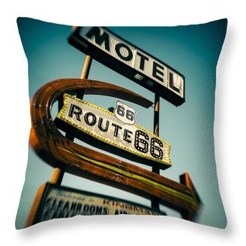 Historic Route 66 Throw Pillows