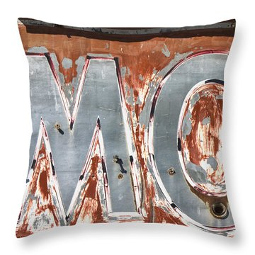 Motel Sign On Route 66 Throw Pillow