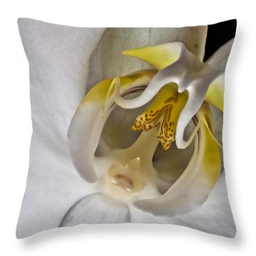 Moth Orchid Inverted Throw Pillow
