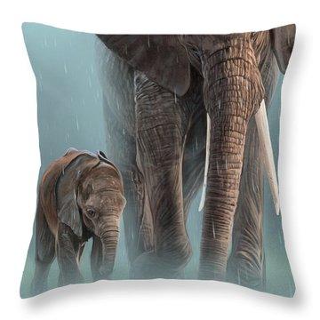 Baby Elephant Throw Pillows