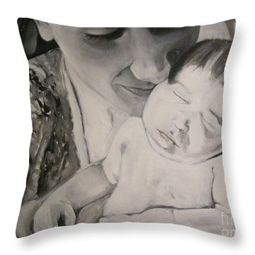 Mother And Child Throw Pillow by Carrie Maurer