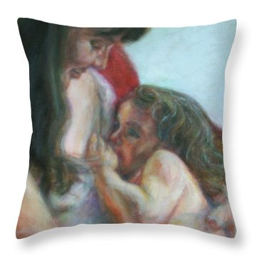 Mother And Child - Detail Throw Pillow