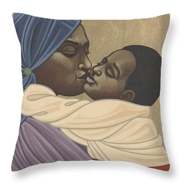 Mother And Child Of Kibeho 211 Throw Pillow