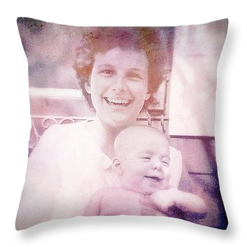 Mother And Daughter Throw Pillow by Beth Williams