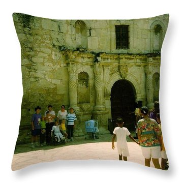 Mother And Family Throw Pillow