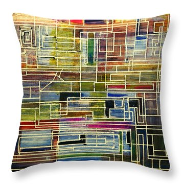 Mother Board Throw Pillow
