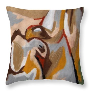 Mother Eagle With Baby Throw Pillow