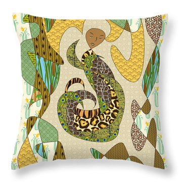 Mother Earth Throw Pillow by Beverly Claire Kaiya