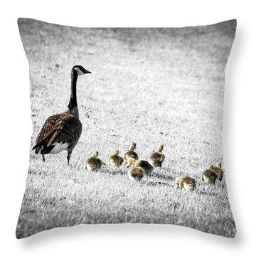 Baby Geese Throw Pillows