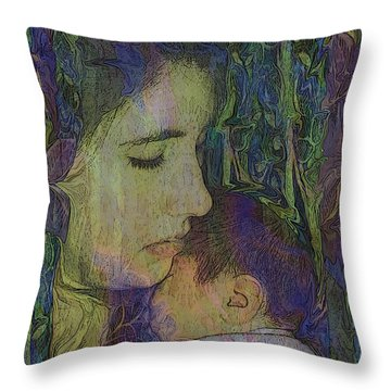 Mother Love Of Father Heart Throw Pillow