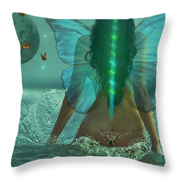 Throw Pillow featuring the digital art Mother Nature by Michael Rucker