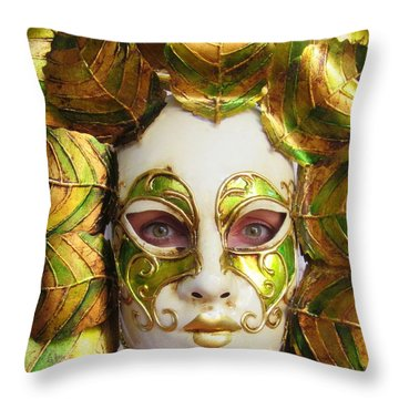 Mother Nature Throw Pillow by Ramona Johnston
